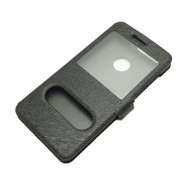 Δερμάτινη Θήκη Βιβλίο Smart Cover με Βάση Στήριξης (Όψη Μεταξιού) για Huawei Honor 8 - Μαύρο