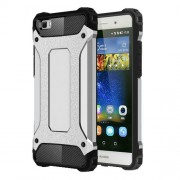 Armor Guard Plastic and TPU Combo Shell for Huawei Ascend P8 Lite - Silver