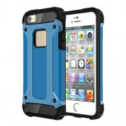 Tough Armor Υβριδική Θήκη Συνδυασμού Σιλικόνης TPU και Πλαστικού για iPhone SE / 5s / 5 - Γαλάζιο