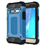 Tough Armor Υβριδική Θήκη Σιλικόνης TPU σε Συνδυαμό με Πλαστικό για Samsung Galaxy J1 (2016) - Γαλάζιο