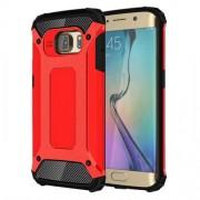 Tough Armor Υβριδική Θήκη Σιλικόνης TPU σε Συνδυαμό με Πλαστικό για Samsung Galaxy S6 Edge G925 - Κόκκινο