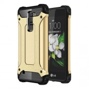 Armor Guard Plastic + TPU Cover Protector for LG K7/Tribute 5 - Gold