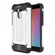 Armor Guard Plastic + TPU Hybrid Shell Case for Xiaomi Redmi 4 Prime / 4 Pro - White