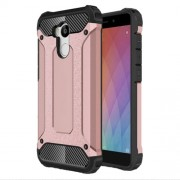 Armor Guard Plastic + TPU Hybrid Shell Cover for Xiaomi Redmi 4 Prime / 4 Pro - Rose Gold