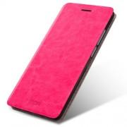 MOFI Rui Series Δερμάτινη Θήκη Βιβλίο με Βάση Στήριξης για Xiaomi Redmi 4 Prime / 4 Pro - Φούξια