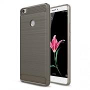 Carbon Fibre Brushed TPU Shell Case for Xiaomi Mi Max - Grey