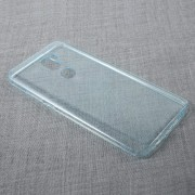 Ultra-thin Transparent Soft TPU Cell Phone Case for Xiaomi Mi 5s Plus - Cyan