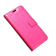 Crazy Horse Leather Stand Casing Cover for Samsung Galaxy A3 (2017) - Rose