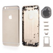 Metal Back Housing Faceplate Parts for iPhone 6 - Gold