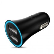 HOCO UC204 2.4A Dual USB Car Charger for iPhone Samsung - Black