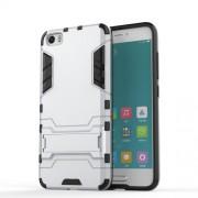 Σκληρή Θήκη σε Συνδυασμό με Σιλικόνη TPU με Βάση Στήριξης για Xiaomi Mi 5 - Ασημί