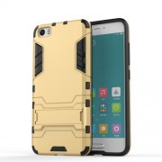 2-in-1 PC and TPU Phone Cover for Xiaomi Mi 5 with Kickstand - Gold