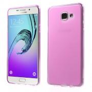 Θήκη Σιλικόνης TPU Ματ με Ημιδιάφανα Άκρα για Samsung Galaxy A7 (2016) SM-A710F - Φούξια