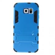 Σκληρή Θήκη σε Συνδυασμό με Σιλικόνη TPU με Βάση Στήριξης για Samsung Galaxy S6 G920 - Μπλε