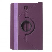 Rotary Stand Leather Flip Case for Samsung Galaxy Tab S2 8.0 T710 T715 - Purple