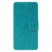 Crazy Horse Stand Leather Flip Case for Meizu M3 Note/Blue Charm Note3 - Blue