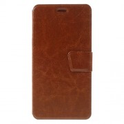 Crazy Horse Leather Stand Card Slot Cover for Meizu M3 Note/Blue Charm Note3 - Brown