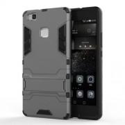 Θήκη Σιλικόνης TPU σε Συνδυασμό με Πλαστικό και Βάση για Huawei P9 Lite - Γκρι