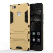 Θήκη Σιλικόνης TPU σε Συνδυασμό με Πλαστικό και Βάση για Huawei P9 Lite - Χρυσαφί