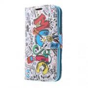 Δερμάτινη Θήκη Πορτοφόλι με Βάση Στήριξης για Samsung Galaxy J1 / J1 4G - Μουσικά Στοιχεία και Μουσικά Όργανα