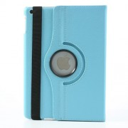 Awakening 360 Degree Rotating Litchi Leather Flip Case for iPad Air - Baby Blue