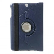 360 Rotary Stand for iPad mini / iPad mini 2 Smart Lychee Leather Case - Dark blue