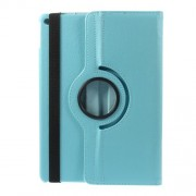 For iPad Air 2 360 Degree Rotary Stand Litchi Grain Leather Cover - Baby Blue