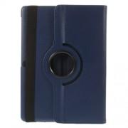 Περιστρεφόμενη Δερμάτινη Θήκη Βιβλίο με Βάση Στήριξης για Samsung Galaxy Tab S 10.5 T800 T805 - Σκούρο μπλε