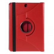 Περιστρεφόμενη Δερμάτινη Θήκη Βιβλίο με Βάση Στήριξης για Samsung Galaxy Tab A 9.7 T550 T555 - Κόκκινο