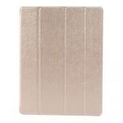 Δερμάτινη Θήκη Βιβλίο με Βάση Στήριξης (Όψη Μεταξιού) για iPad 2 3 4 - Σαμπανιζέ