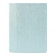 Δερμάτινη Θήκη Βιβλίο με Βάση Στήριξης (Όψη Μεταξιού) για iPad 2 3 4 - Γαλάζιο