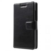 Δερμάτινη Θήκη Πορτοφόλι με Βάση Στήριξης για Huawei Y360 - Μαύρο