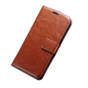 Crazy Horse Card Slot Leather Case for Samsung Galaxy S7 Edge - Brown