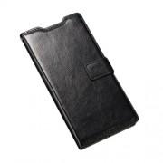 Δερμάτινη Θήκη Πορτοφόλι με Βάση Στήριξης για Sony Xperia M5 E5603 / M5 Dual E5633 - Μαύρο