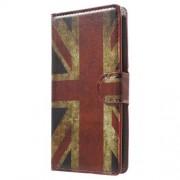 Δερμάτινη Θήκη Πορτοφόλι με Βάση Στήριξης για LG G4c H525N / Magna H502F H500F / Volt 2 LS751 - Μοτίβο Αγγλική Σημαία