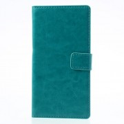 Crazy Horse for Sony Xperia Z2 D6502 D6503 D6543 PU Leather Case w/ Card Slots - Blue