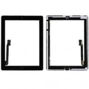 Touch Screen Digitizer Assembly with Sticker and Home Button Replacement Parts for iPad 3 4 - Black