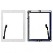 Touch Screen Digitizer Assembly with Sticker and Home Button Replacement Parts for iPad 3 4 - White
