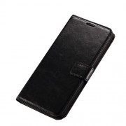 Crazy Horse Stand Wallet Leather Case for LG V10 - Black
