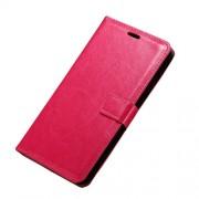 Δερμάτινη Θήκη Πορτοφόλι με Βάση Στήριξης για Microsoft Lumia 950 XL - Φούξια