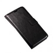 Δερμάτινη Θήκη Πορτοφόλι με Βάση Στήριξης για Microsoft Lumia 950 - Μαύρο
