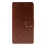 Crazy Horse Card Holder Leather Phone Case for Microsoft Lumia 950 - Brown