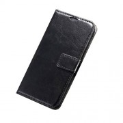 Crazy Horse Leather Case with ID Credit Card Slots for Samsung Galaxy S6 - Black