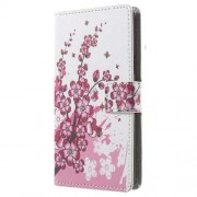 Flip Wallet Leather Stand Phone Case for LG Bello II / Prime II / Max - Plum Blossom