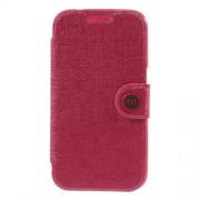 MLT Δερμάτινη Θήκη Πορτοφόλι με Βάση Στήριξης για Samsung Galaxy Core Prime SM-G360 - Φούξια