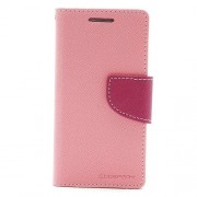 Mercury Goospery Fancy Diary Wallet Leather Shell Stand for Samsung Galaxy S4 mini i9190 i9192 - Rose / Pink