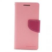 Mercury Δερμάτινη Θήκη με Βάση Στήριξης για Samsung Galaxy S4 mini i9190 i9192 - Φούξια/Ροζ