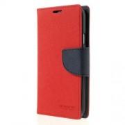 Mercury Goospery Fancy Diary Δερμάτινη Θήκη Πορτοφόλι με Βάση Στήριξης για Samsung Galaxy S5 G900 - Σκούρο Μπλε/Κόκκινο