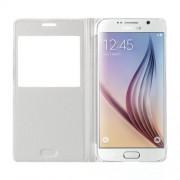 Δερμάτινη Θήκη Βιβλίο Smart Cover για Samsung Galaxy S6 G920 - Λευκό