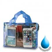 Αδιάβροχη Τσάντα  για Κινητά Διαστάσεις: 19x26cm - Μπλε